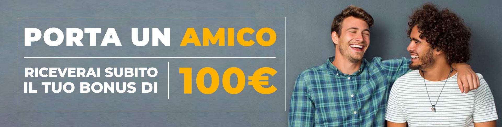 Presenta un amico  - Presenta un amico e ricevi fino a €100 sulla sua ricarica